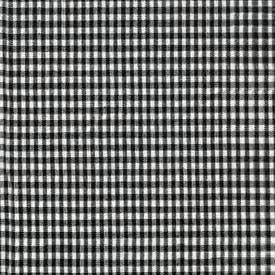 Black Gingham Crib Pillow Sham - Size: 13 x 15 inches