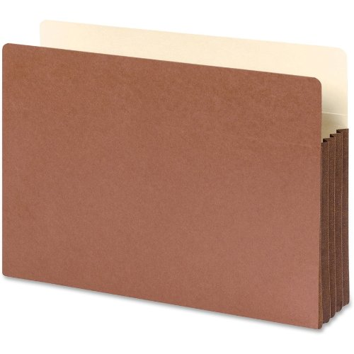 "Smead File Pocket, Straight-Cut Tab, 3-1/2"" Expansion, Legal Size, Redrope, 10 per Box (74264)"
