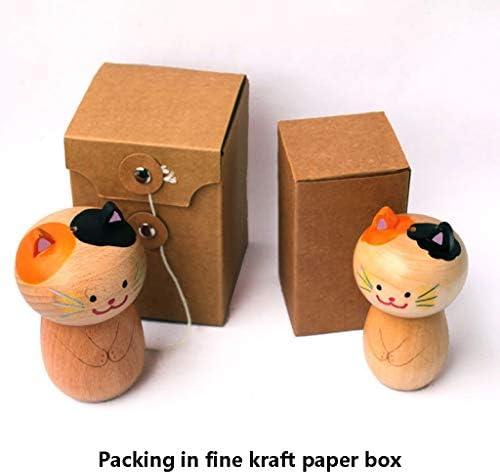 CMrtew 1pc Creative Japanese-Style Wooden Storage Cartoon Toothpick Holder Pocket Small Toothpick Box Toothpick Storage Box Toothpick Dispenser E
