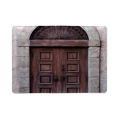 Rustic Utility Notebooks,Arched Wooden Venetian Door with Eastern Royal Ottoman Elements European Culture Decorative for Work,5.82