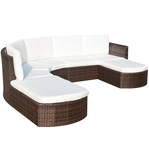 Festnight 16 Piece Garden Sofa Set Poly Rattan with cushions, Brown (Rattan Furniture Used Sale)