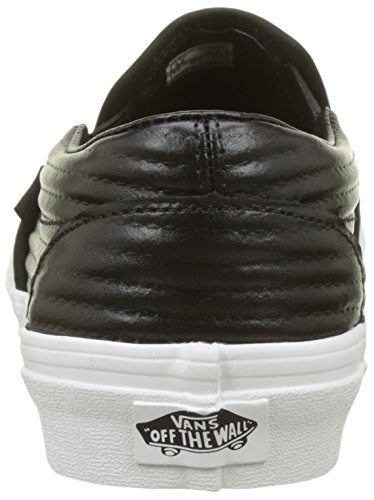 Women's on Leather Vans moto Classic Blanc Black De black Trainers Blanc Slip qddpxwPF