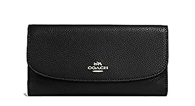Coach Pebbled Leather Checkbook Wallet Clutch - #F16613