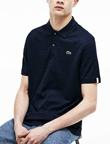 ve L Bleu shirt Regular Lacoste T Check d5wFx8