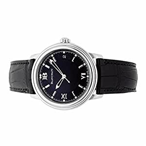 Blancpain Leman automatic-self-wind mens Watch 2100-1130A-64B (Certified Pre-owned)