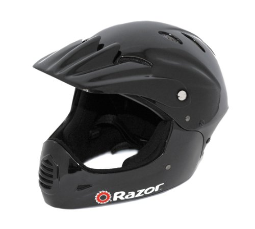 Razor Full Face Youth Helmet, Black
