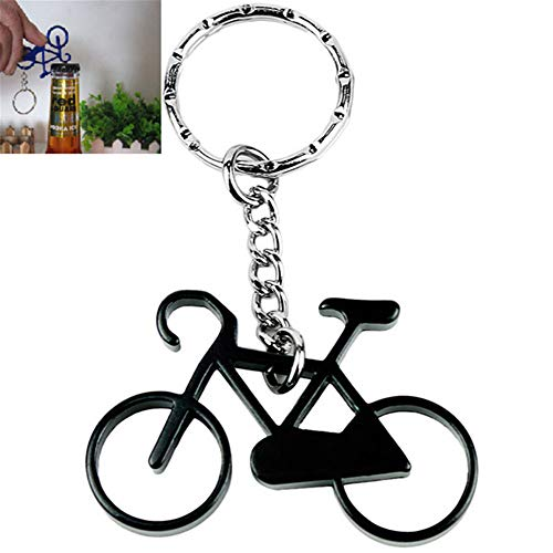 Amorly Bottle Openers-Wine Beer Opener Tool with Stainless Steel Key Rings Bicycle Keychain - Bike Keychain