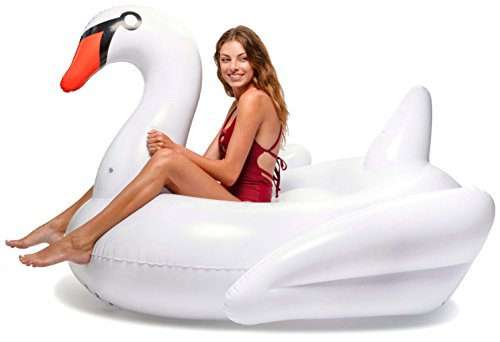 Floatie Kings White Swan Party Pool Float - Original Giant Premium ()