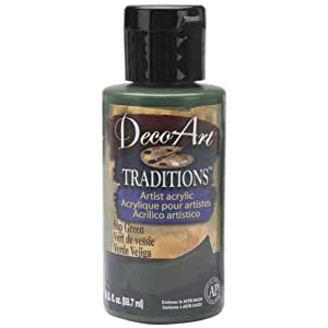 Deco Art 3-Ounce Traditions Acrylic Paint, Sap Green