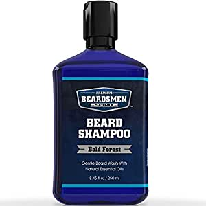 Beard Shampoo & Beard Wash - Man-Sized 8.45 OZ Bottle - Nourishing All Natural Oils - Cleans, Softens & Conditions - Premium Beard Soap