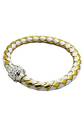 Cuff Platinum Bracelet - LUQUAN Rhinestone Magnetic Buckle Wrap Wristband Cuff Bangle Bracelet Platinum