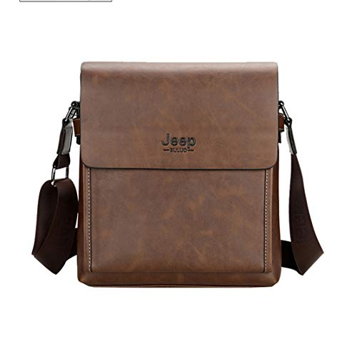 Hommes Laptop Shoulder D'épaule Fonctionnel Sacs Layxi Sac 13 Marron2 5 Ajustable Bags c Handbag Affaire Pu Cuir Etanche Pouces Grande Capacité Business qAHq7P