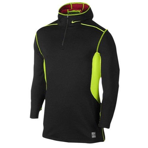 Nike Men's Pro Hyperwarm Fitted Dri-FIT Max Athlete Hooded Top Shirt, Black, L