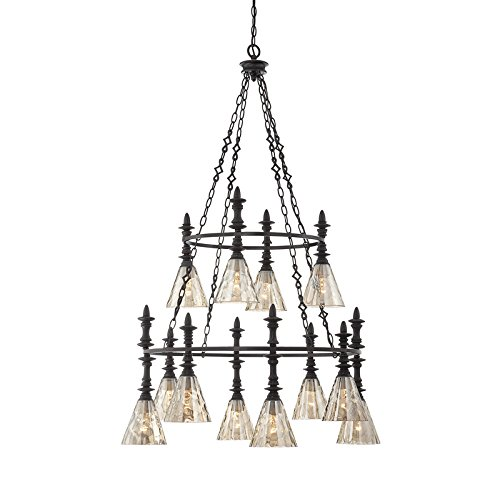 Savoy House Darian 12-Light Chandelier in Oiled Bronze 1-4901-12-02 - Darian 1 Light