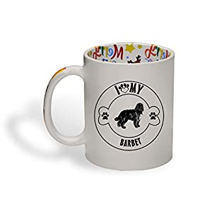 Ceramic Christmas Coffee Mug I Love Paw My Barbet Dog Funny Tea Cup 21