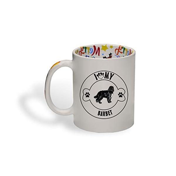 Ceramic Christmas Coffee Mug I Love Paw My Barbet Dog Funny Tea Cup 1