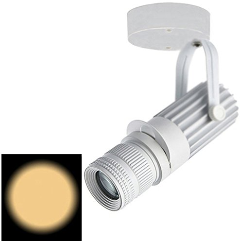 LUMINTURS 20W LED Ceiling Picture Spot Downlight Focus Adjustable Zoom Lamp Fixture Light White-Finish Warm white