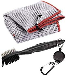 Grijs van puur katoen golfhanddoek stofoog karabijnhaak clip wateropname sport handdoek comfortabele golf trainingsreinigingsdoek