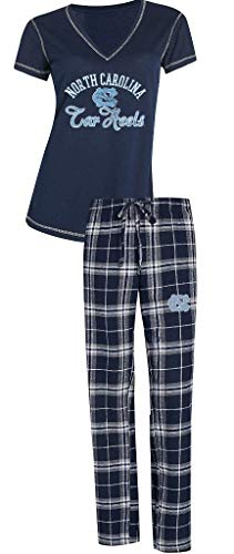 University of North Carolina UNC Tar Heels NCAA Women's Shirt and Pajama Pants Sleep Set XL 16-18
