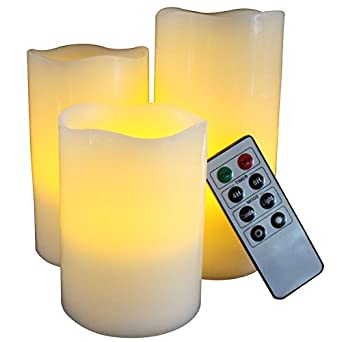 Best Flameless Candles With Timer Remote Control Unscented Flickering Battery Operated Electric Candle For Home Decor Weddings Parties And Awesome Gifts