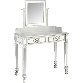 Amazon Com Monarch Specialties Brushed Silver Mirrored