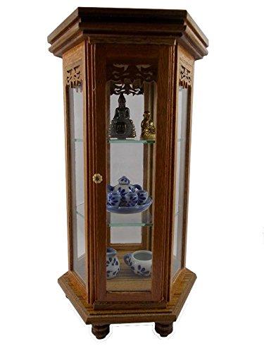 Antique Miniature Cabinet Teak Wood Cabinet Dollhouse Cabinet Carved Vintage Cupboard Furniture