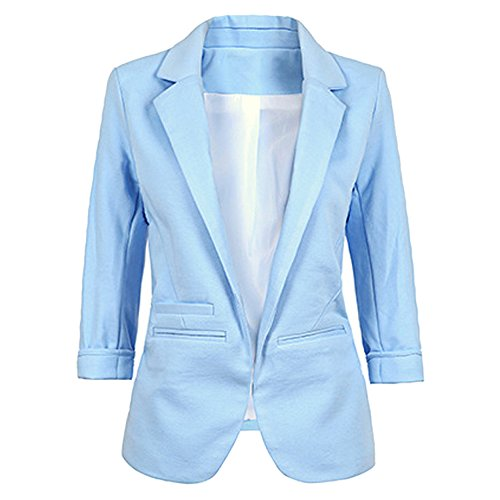 Jessica CC Women's 3/4 Sleeves Open Front Blazer
