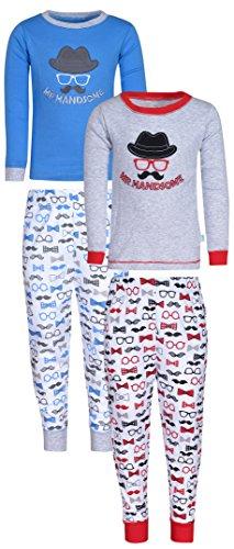Duck Duck Goose Infant & Toddler Boys 2 Piece Sleep Pajamas Set, Mr Handsome, Size 4T Mr Duck