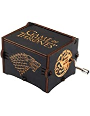 "BADARENXS Pure hand-classical black ""Game Of Thrones "" music box hand-wooden music box creative wooden crafts best Gifts"