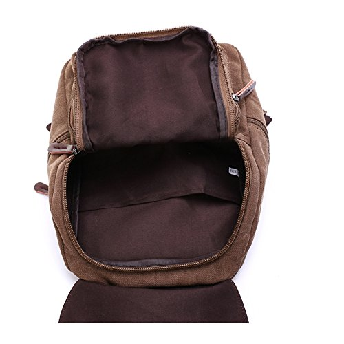 Toupons Small Canvas Backpack for Gilrs & Boys Kids School Rucksack (Black)