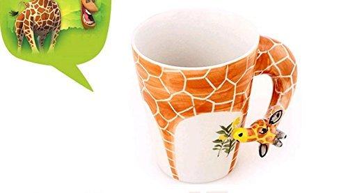 Giraffe Mug (Sincere Trading 3D animals creative ceramic cup (301-400ml) ,coffee cup, milk cup, breakfast cup, tea cup (giraffes-orange))