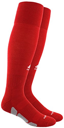 adidas Utility All Sport Socks (1-Pack), Power Red/White/Light Onix, Medium