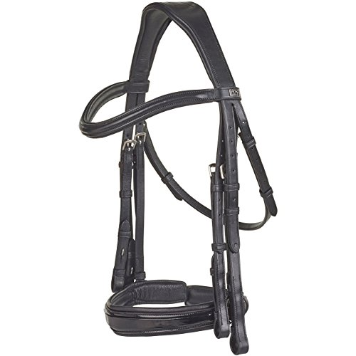 PDS with Insider Grip Reins Weymouth Bridle Full Size Black (Weymouth Bridle)