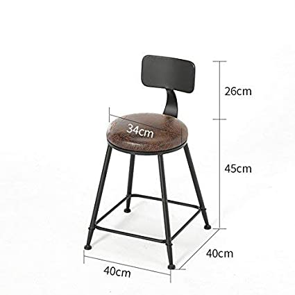 Amazon.com : YZH Vintage Wrought Iron Bar Chair, Living ...