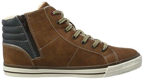 Mustang Herren 4096-601-301 Hohe Sneaker Braun (Kastanie)