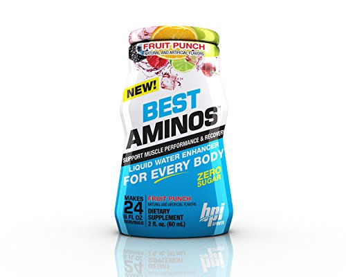 BPI Sports Best Aminos Fruit Punch, Liquid Water Enhancer, 24 Servings per...
