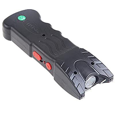 Police 75,000,000 Stun Gun Rechargeable With Safety Disable Pin & Led Flashlight (Black)