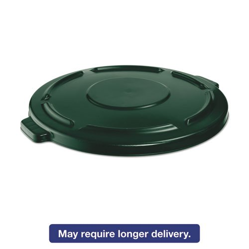 (Rubbermaid Commercial FG264560DGRN BRUTE Heavy-Duty Round Waste/Utility Container, 44-gallon Lid, Dark Green)