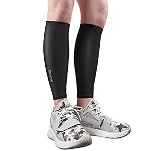 Aegend Small Calf Compression Sleeve, Anti-Slip Leg Compression Sleeves for Shin Splints & Calf Pain Relief, Circulation & Recovery, Running, Hiking, Cycling, Basketball, Football, Crossfit, 1 Pair