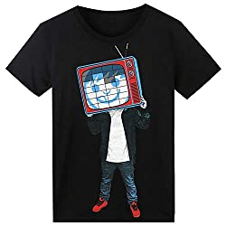 Tv Head T-Shirt Sound Activated Glow Light up Equalizer