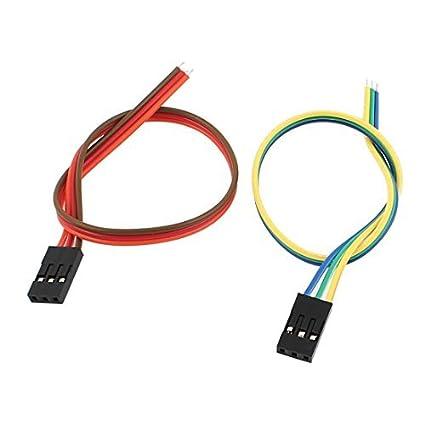 eDealMax 2 Pcs Mujer 3P Jumper Cables Los Cables de Cinta Pi Pico de tablero de