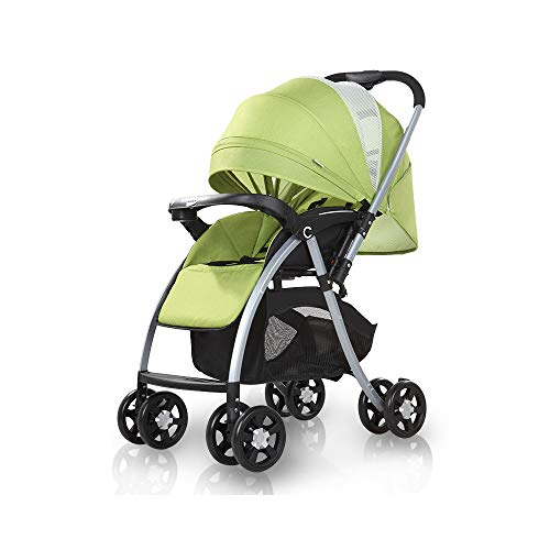 2019 Baby Stroller,Lightweight Compact Travel Stroller – One Hand Fold,Umbrella Stroller,can be Reversed,Full Recline Up 175° – Baby Can Sit Or Lie Down, Can Take It On The Airplane (Light Green)
