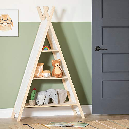 South Shore 100388 Sweedi Teepee Shelving Unit-Natural Cotton and Pine