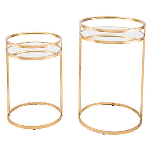 Zuo Nesting Tables (Set of 2), Gold by Zuo