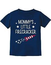 Mommy's Little Firecracker Cute 4th of July Toddler/Infant Kids T-Shirt 4T Navy