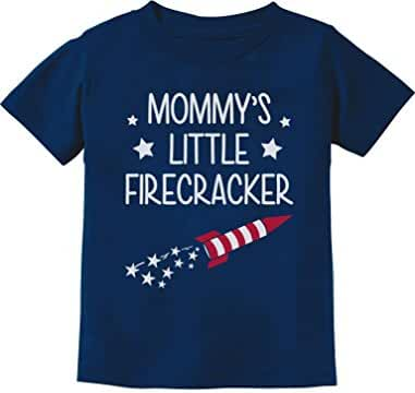 Mommy's little Firecracker Cute 4th of July Toddler/Infant Kids T-Shirt