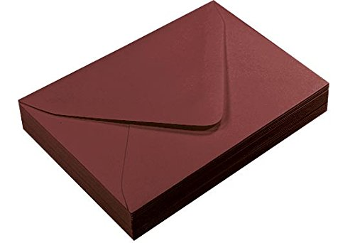 A7 Merlot Euro Flap Envelopes, Gmund Colors Matt 68lb, 25 pack (68 Matt)