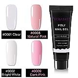 ECBASKET Poly Nail Gel Kit Gel Nail Extension