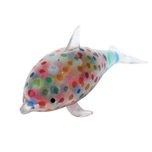 Wenjuan Spongy Dolphin Bead Color Bubble Ball Squeezable Stress Toy Collection Keychain Jumbo Collection Phone Strap Cure Decor Gift Toy