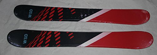 Skiboards Ski boards WSD Red Dots 100cm Wide skiboards pair with Tyrolia adult SX10 bindings New
